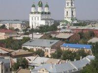 Вид города Астрахани